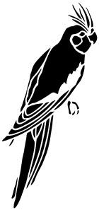 perroquet animal oiseau en ombres chinoises theatre d`ombres silhouettes marionnettes