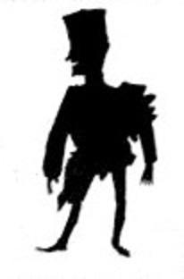militaire soldat officier homme silhouette theatre d`ombres ombres chinoises marionnettes