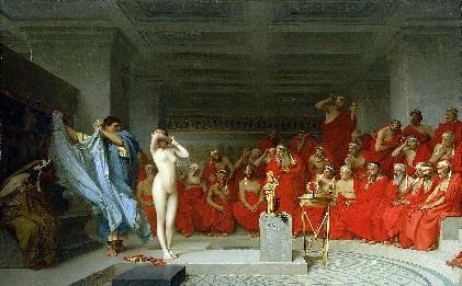Phyrné, procès, tableau de Gerome