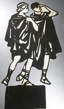 éphèbes, phryné, ombres chinoises, theatre d`ombres, silhouettes, marionnettes, louis morin