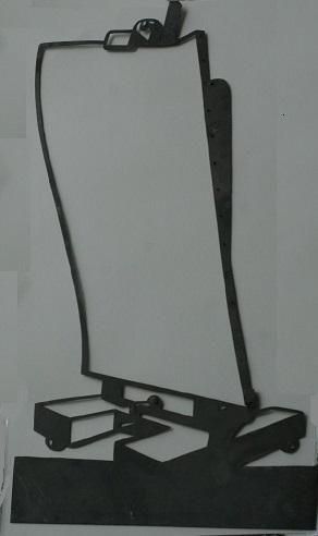 Pierrot, chevalet de peintre, l`âge d`or, chat noir, ombre chinoise, theatre d`ombres, intermède, silhouettes, marionnettes