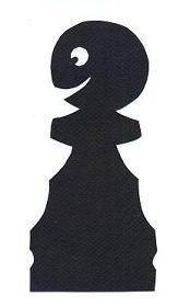 pion noir échecs en théâtre d`ombres ombres chinoises silhouettes marionnettes