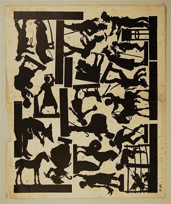 planche de silhouettes en theatre d`ombres ombres chinoises silhouettes marionnettes