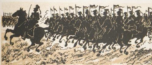 troupes napoléoniennes soldats les Poilus à travers les âges par Henriot défilé d`ombres chinoises théâtre d`ombres silhouettes marionnettes guerre