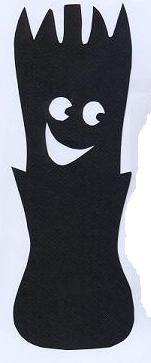 poireau légume en theatre d`ombres ombre chinoise silhouette marionnette