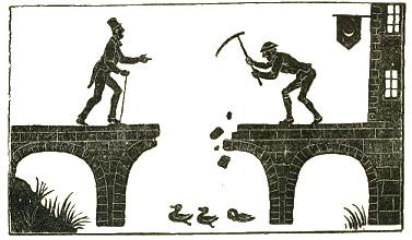 le pont cassé ombres chinoises, theatre d`ombres puppet shadow, silhouette, marionnette, free