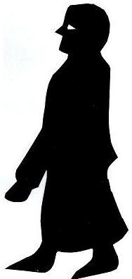 brancardier porteur bible en theatre d`ombres ombres chinoises marionnettes