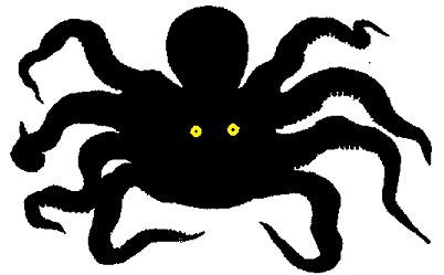 poulpe pieuvre kraken en theatre d`ombres ombres chinoises marionnettes free