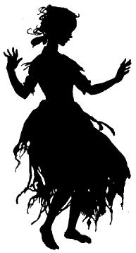 princesse, ombre chinoise, silhouette, theatre d`ombres, silhouettes, marionnettes, arthur rackham