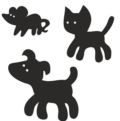 La rave magique, chien, chat, souris, conte russe, ombres chinoises, theatre d`ombres, conte, silhouettes, marionnettes, free