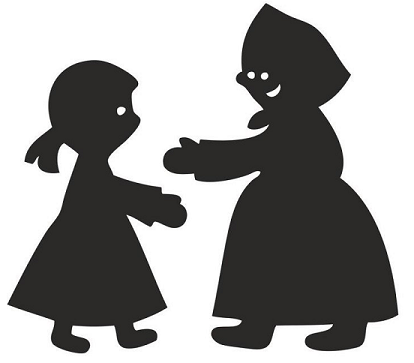 La rave magique, femme, conte russe, ombres chinoises, theatre d`ombres, conte, silhouettes, marionnettes, free