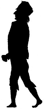 homme pirate en théâtre d`ombres silhouettes ombres chinoises marionnettes