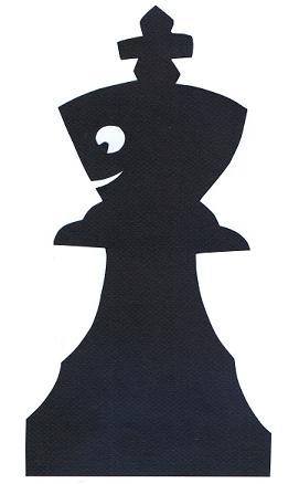 roi noir échecs en théâtre d`ombres ombres chinoises silhouettes marionnettes