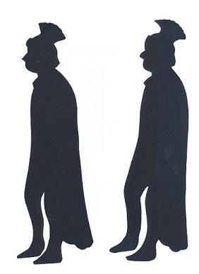 soldats romains bible nativité en théâtre d`ombres ombres chinoises silhouettes marionnettes