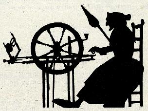 vieille femme rouet conte en théâtre d`ombres ombres chinoises silhouettes marionnettes