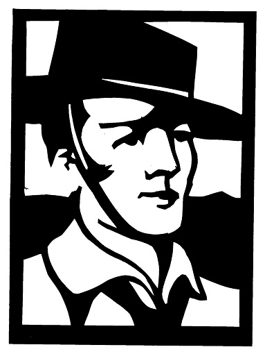 Rudolph Valentino personnage homme en théâtre d`ombres ombres chinoises marionnettes silhouettes