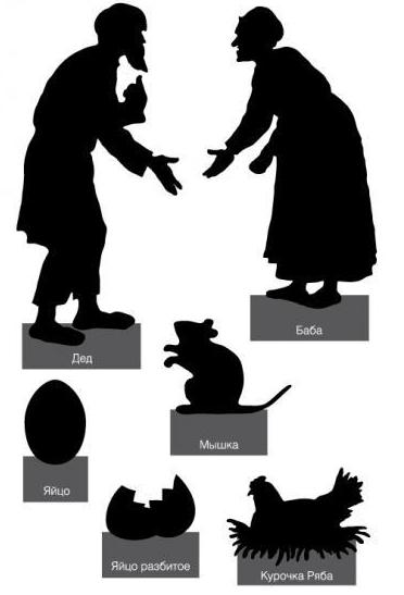 la petite poule bigarrée conte russe saynète en theatre d`ombres chinoises silhouettes marionnettes