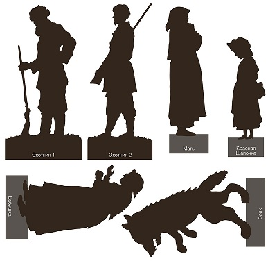 ombres chinoises, russes, le petit chaperon rouge, shadows puppets, schattenfiguren, schattensilhouette, ombres chinoises, theatre d`ombres, silhouettes, marionnettes, conte