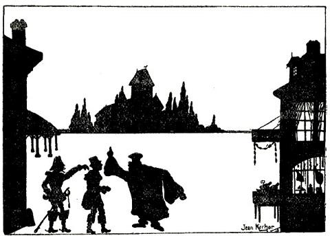campagne scène Jean Kerhor en theatre d`ombres ombres chinoises silhouettes marionnettes