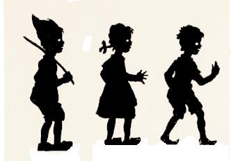 enfants en ombres chinoises, theatre d`ombres, silhouettes, marionnettes