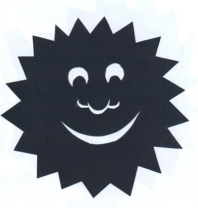 soleil souriant en théâtre d`ombres ombres chinoises silhouettes marionnettes