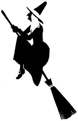 sorcière en theatre d`ombres ombres chinoises silhouettes marionnettes
