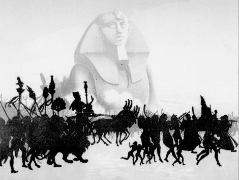 Pharaon, armées, Sphinx, ombres chinoises, theatre d`ombres, chat noir, marionnettes, silhouettes, free