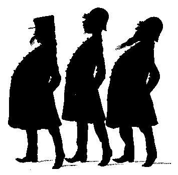 personnages en théâtre d`ombres ombres chinoises silhouette marionnette