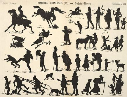 planche d`ombres chinoises theatre d`ombres silhouettes marionnettes free