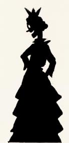 princesse en ombres chinoises, theatre d`ombres, silhouettes, marionnettes