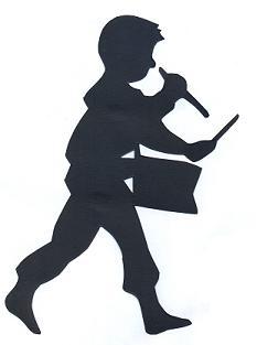 tambour en théâtre d`ombres ombres chinoises marionnettes, silhouettes