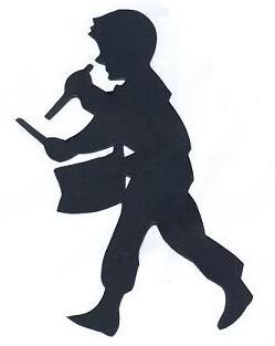 tabbour en théâtre d`ombres ombres chinoises marionnettes, silhouettes
