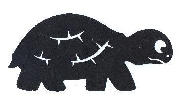 tortue en ombre chinoise théâtre d`ombres silhouette marionnette