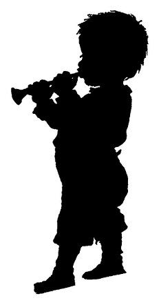 enfant musicien en théâtre d`ombres ombres chinoises marionnettes silhouettes